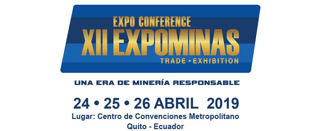 EXPOMINA 2019 ECUADOR 24 – 26 Abril 2019
