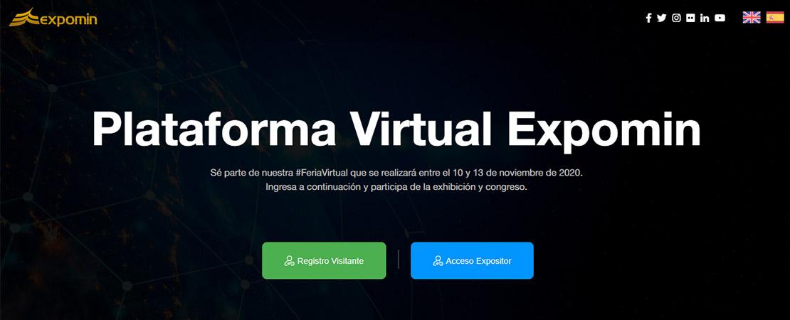 Expomin virtual Chile 09-13 Nov. (Rueda PromPerú)
