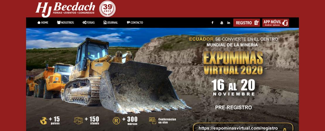 Expo minas virtual Ecuador 16-20 Nov. (Pabellon PromPerú)